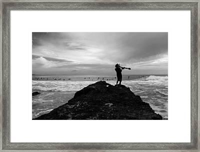 Summoning Up The Waves Framed Print by Noel Elliot