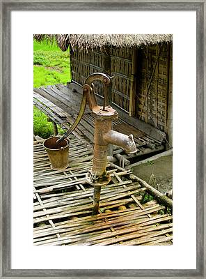 Sumoimari Ghat, Majuli Island, Assam Framed Print by Ellen Clark