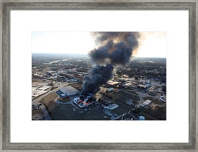 Sumter Fire Framed Print by Joseph C Hinson Photography