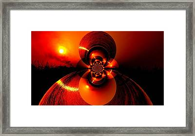 Sun Abstraction-3 Framed Print by Anand Swaroop Manchiraju