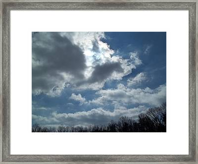 Framed Print featuring the photograph Sun Almost by Eric Switzer