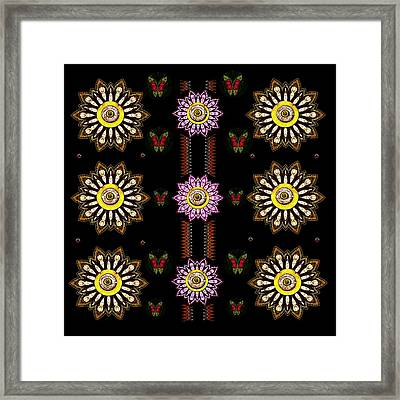 Sun And Flower Garden Framed Print