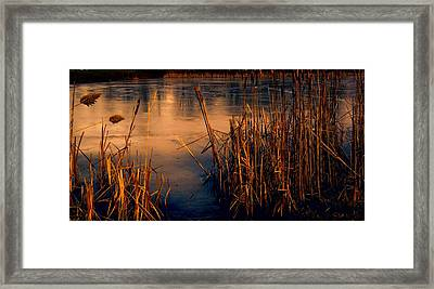 Sun And Ice Framed Print