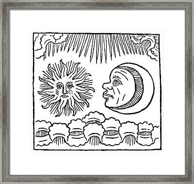 Sun And Moon, 1480 Framed Print by Granger