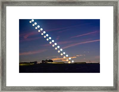 Sun And Moon At Vernal Equinox Framed Print by Juan Carlos Casado (starryearth.com)