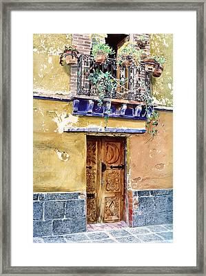Sun And Moon Door Coyocan Framed Print