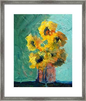 Sun And Shadow Framed Print by Nancy Merkle