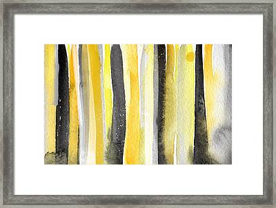 Sun And Shadows- Abstract Painting Framed Print