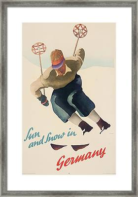 Sun And Snow In Germany Framed Print