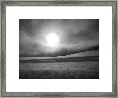 Sun And Snow Framed Print