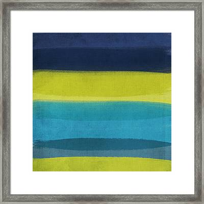 Sun And Surf Framed Print by Linda Woods