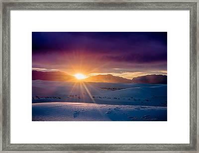 Sun And White Sand Framed Print