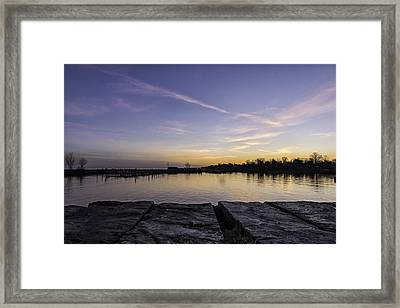 Sun At The Docks Framed Print by Kris Rowlands