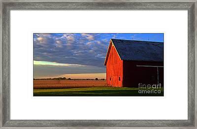 Sun Barn Framed Print