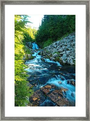 Sun Beam Falls Framed Print