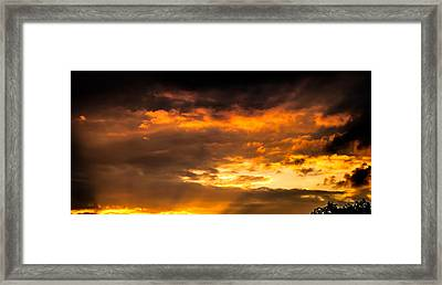 Sun Beams And Clouds Framed Print by Optical Playground By MP Ray