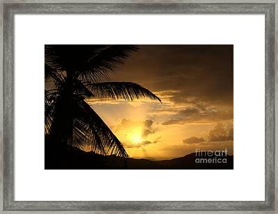 Sun Blast Framed Print