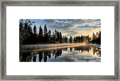 Sun Blessed Pond Framed Print