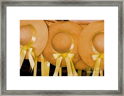 Framed Print featuring the photograph Sun Bonnets by Nigel Fletcher-Jones