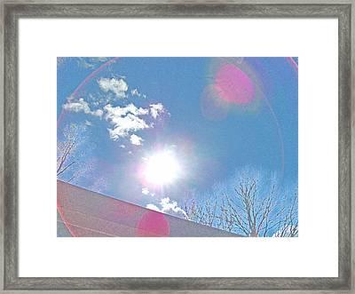 Sun Bow Framed Print by Skyler Tipton