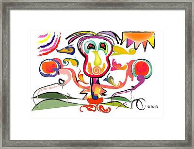 Sun Boxer Framed Print by Andy Cordan