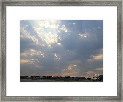 Sun Breaking Through Framed Print by B Rossitto