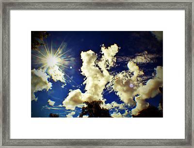 Sun Bubbles Framed Print