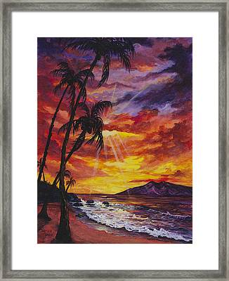 Framed Print featuring the painting Sun Burst by Darice Machel McGuire