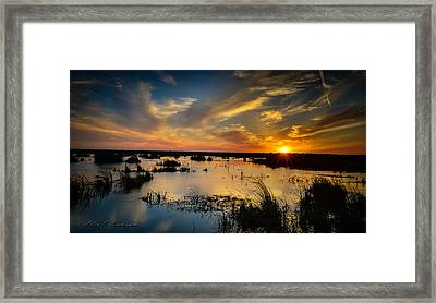 Sun  Clouds  Water And Silence Framed Print