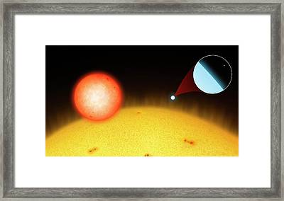 Sun Compared To Small Stars Framed Print by Mark Garlick