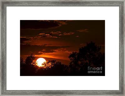 Sun Cradle... Framed Print
