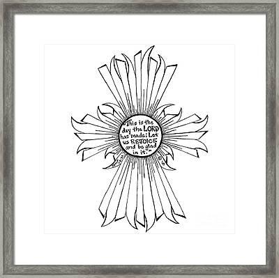 Sun Cross Framed Print