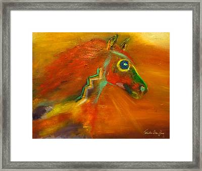 Framed Print featuring the painting Sun Dance by Barbie Batson