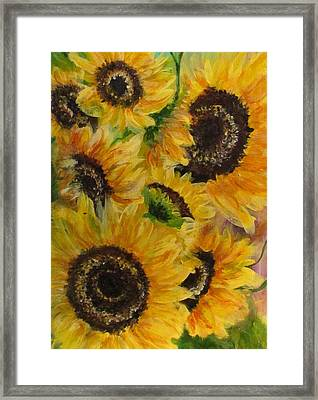 Framed Print featuring the painting Sun Danse by France Laliberte