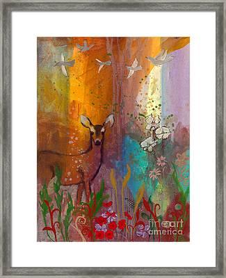 Sun Deer Framed Print