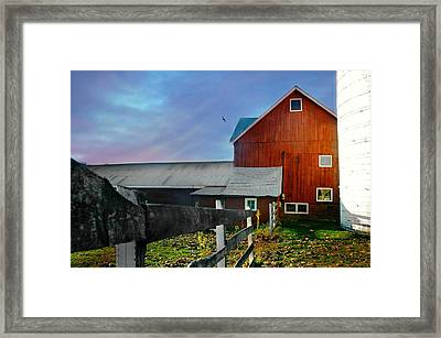 Sun Down Farm Framed Print