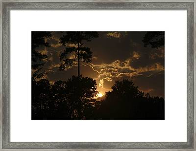Sun Down Framed Print