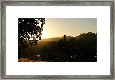 Sun Down Framed Print by Shawn Marlow