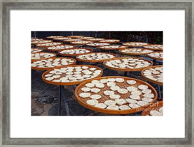Sun Dried Noodles In Southern Taiwan Framed Print by Yali Shi