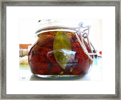 Sun Dried Tomatoes In A Glass Jar Framed Print
