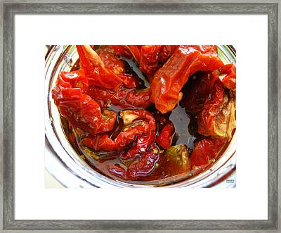 Sun Dried Tomatoes In Oil Framed Print