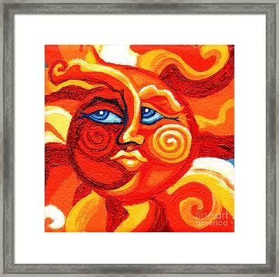 Sun Face Framed Print