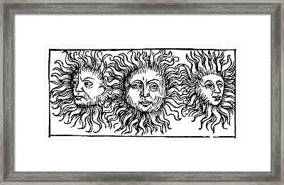 Sun Faces, Decorative Framed Print by Granger