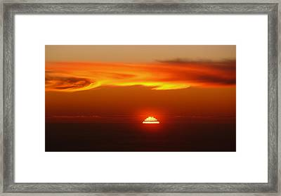 Sun Fire Framed Print by Evelyn Tambour