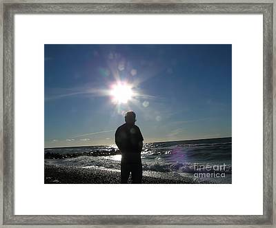 Sun Flare Sunset  Framed Print