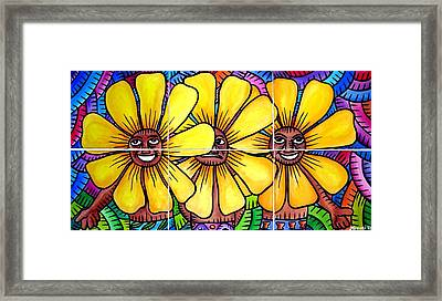 Sun Flowers And Friends 2008 Framed Print