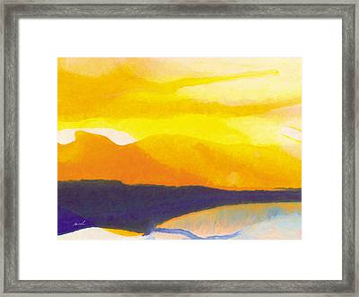 Framed Print featuring the painting Sun Glazed by The Art of Marsha Charlebois