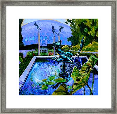 Sun Glitter Mermaid At Missouri Botanical Garden Framed Print