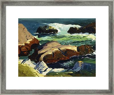 Sun Glow Framed Print by George Wesley Bellows
