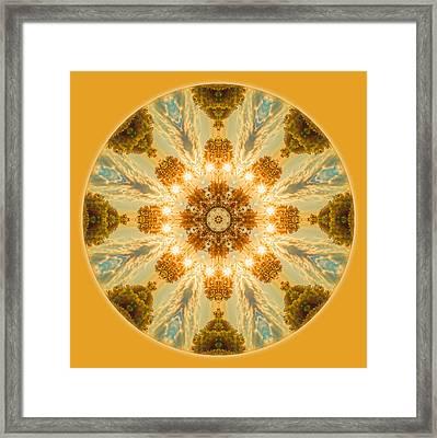 Sun Glow Mandala Framed Print